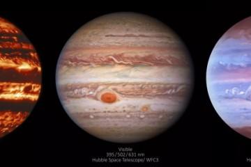 新太空望远镜图组展示木星情绪环