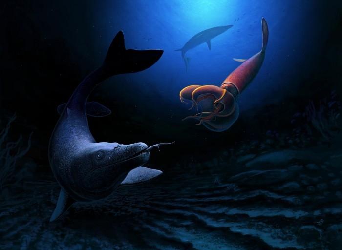 巨大的海蜥蜴曾长到26英尺长显示小行星撞击前的生命多样性